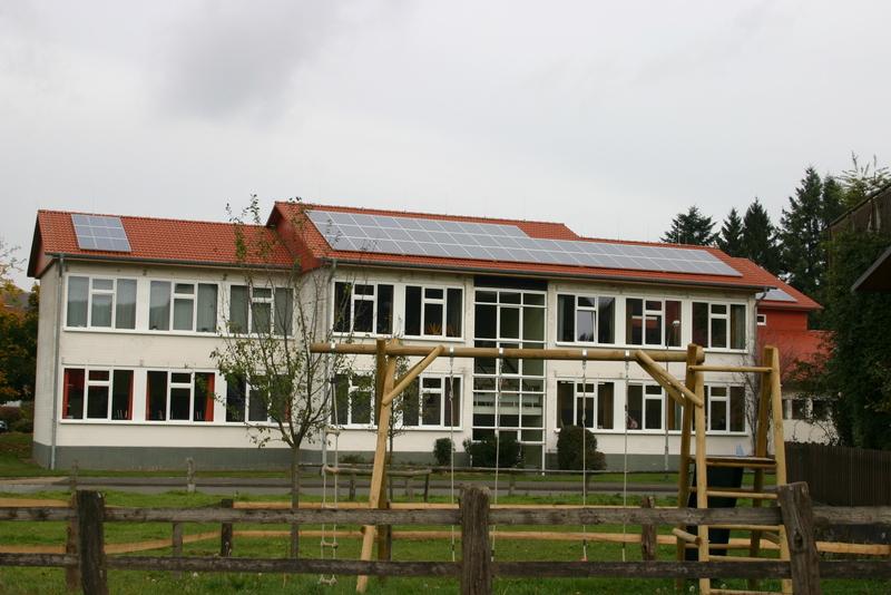 Photovoltaikanlage auf der Schule