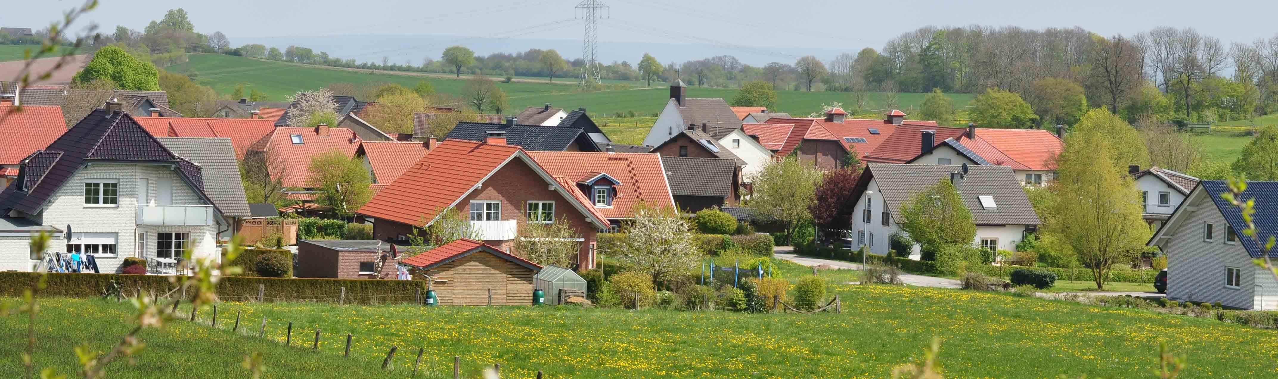 Blick auf Papenhöfen im Frühling Foto: J. Suermann