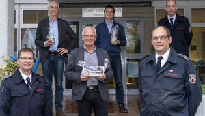 Feuerwehrführung verabschiedet Bürgermeister Klocke